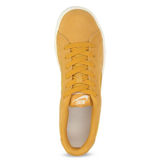 Dámské kožené žluté tenisky nike, žlutá, 503-8862 - 17