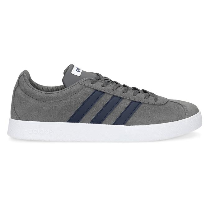 Pánské tenisky z broušené kůže šedé adidas, šedá, 803-2379 - 19
