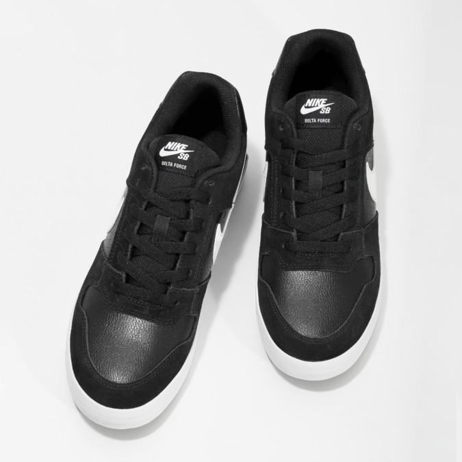 Černo-bílé tenisky nike, černá, 801-6726 - 16