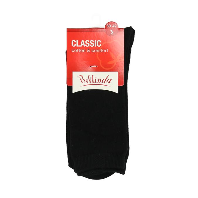 Vysoké černé bavlněné ponožky bellinda, černá, 919-6422 - 13