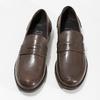 Hnědé kožené pánské mokasíny bata, hnědá, 814-4128 - 16