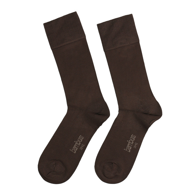 Pánské vysoké ponožky hnědé antibakteriální bellinda, hnědá, 919-4264 - 26