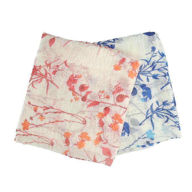 Lehké dámské šátky s květinami bata, vícebarevné, 909-0241 - 13