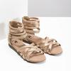 Zlaté dívčí sandály s pletením mini-b, zlatá, 361-8605 - 26