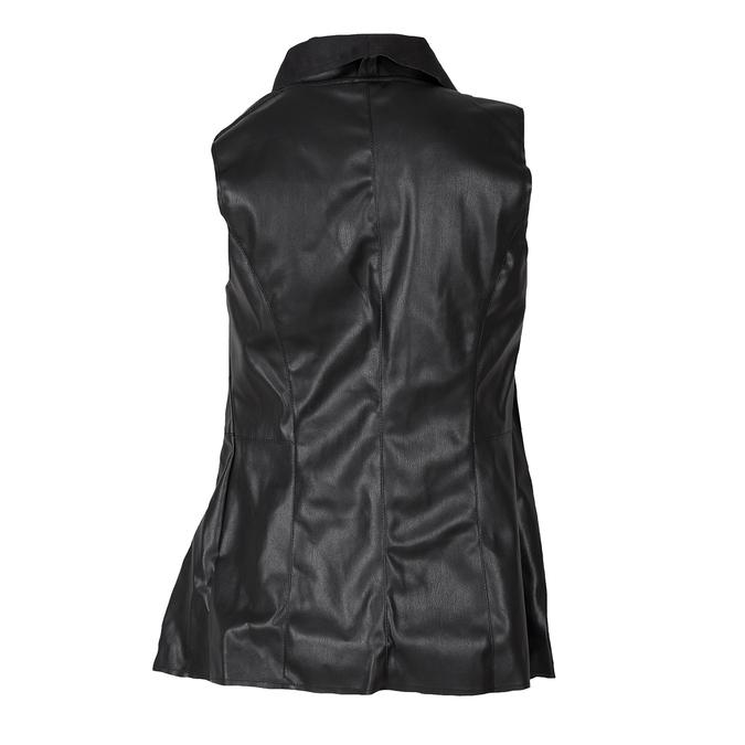 Dámská koženková vesta černá bata, černá, 971-6208 - 26