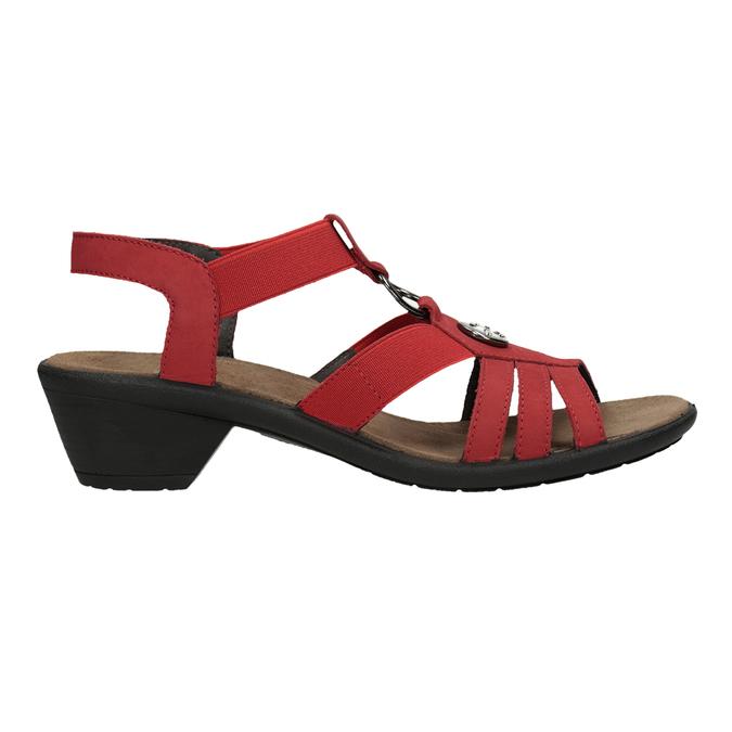 Dámské kožené sandály červené comfit, červená, 666-5619 - 16