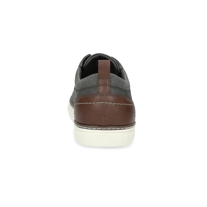 Pánské tenisky s prošitím bata-red-label, šedá, 841-2618 - 15