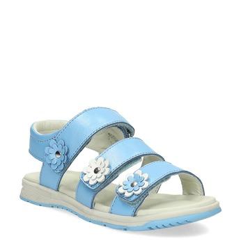 Letní dívčí sandály modré mini-b, 364-9601 - 13