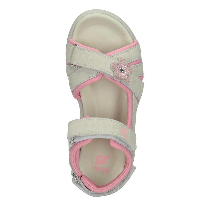 Kožené dívčí sandály s kytičkou mini-b, 263-1604 - 17