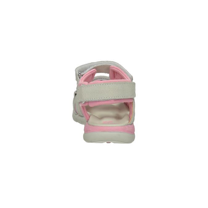 Kožené dívčí sandály s kytičkou mini-b, 263-1604 - 15