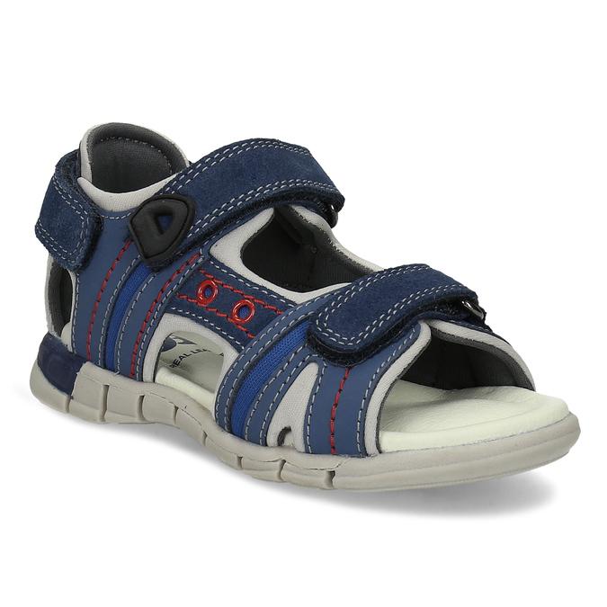 Dětské kožené sandály modré mini-b, 263-9605 - 13