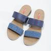 Modré dámské nazouváky na nízkém klínku bata-red-label, modrá, 561-9609 - 16