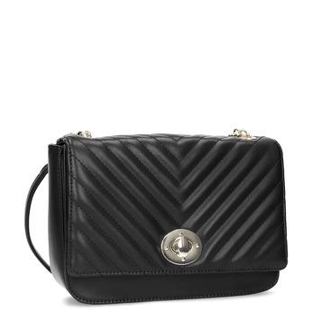 Černá prošívaná kabelka s řetízkem bata-red-label, černá, 961-6861 - 13