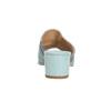 Kožené nazouváky na podpatku modré bata, modrá, 666-9625 - 15