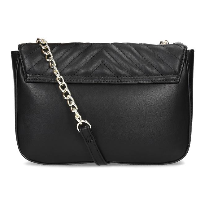 Černá prošívaná kabelka s řetízkem bata-red-label, černá, 961-6861 - 16