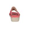 Červené dámské kožené nazouváky s řasením comfit, červená, 566-5633 - 15