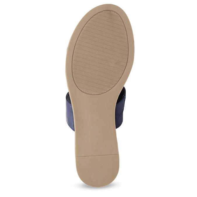 Modré dámské nazouváky na nízkém klínku bata-red-label, modrá, 561-9609 - 18