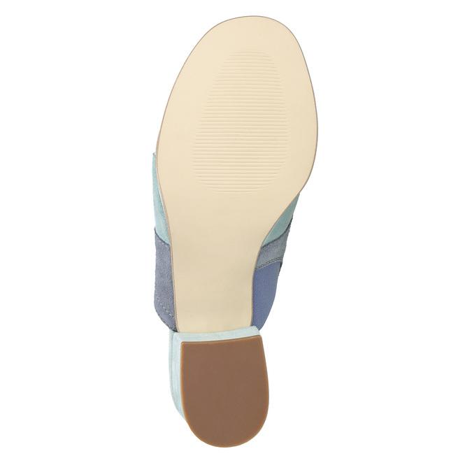 Kožené nazouváky na podpatku modré bata, modrá, 666-9625 - 19