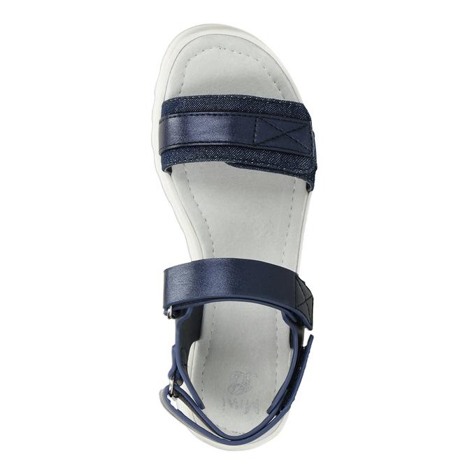Sandály se strukturovanou podešví modré mini-b, modrá, 361-9613 - 17