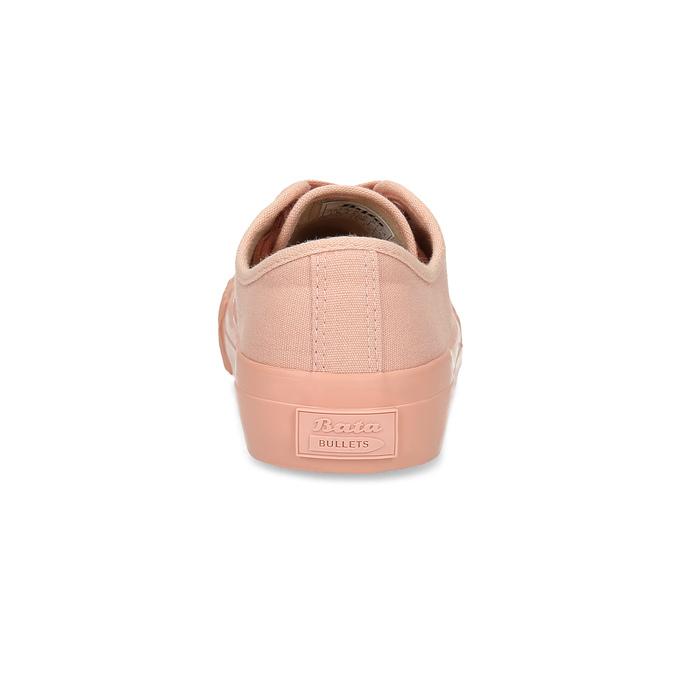 Růžové dámské tenisky s gumovou špičkou bata-bullets, růžová, 589-5333 - 15