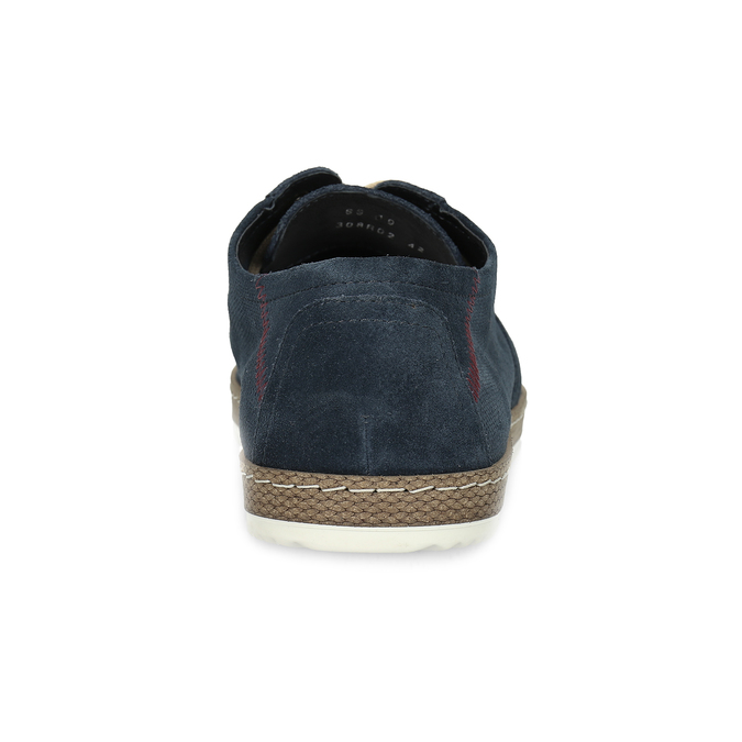 Tmavě modré kožené tenisky s perforací bata, modrá, 823-9617 - 15