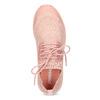 Dámské světle růžové tenisky z úpletu power, růžová, 509-5217 - 17