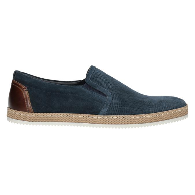 Pánské Slip-on z broušené kůže tmavě modré bata, modrá, 833-9602 - 26