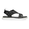 Černé dámské sandály na výrazné podešvi bata-light, černá, 561-6616 - 19