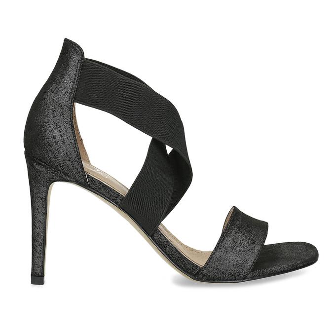 Černé sandály na jehlovém podpatku insolia, černá, 769-6625 - 19