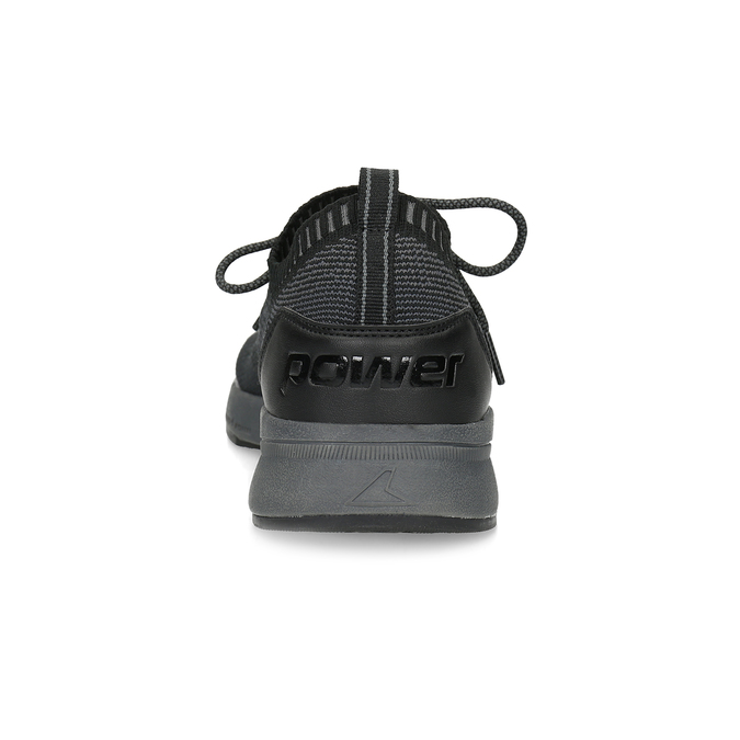 Pánské černé úpletové tenisky power, černá, 809-6217 - 15