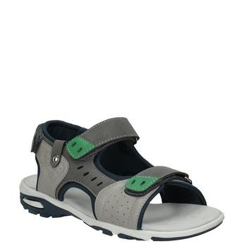 Chlapecké sandály ve sportovním stylu šedé mini-b, šedá, 461-2607 - 13