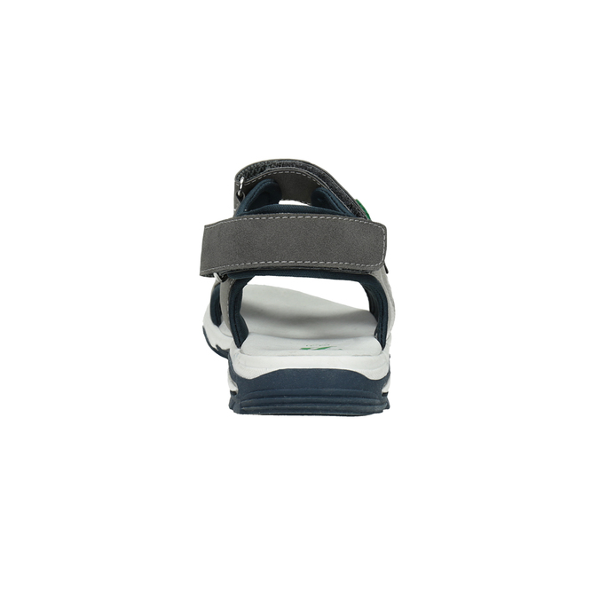 Chlapecké sandály ve sportovním stylu šedé mini-b, šedá, 461-2607 - 15