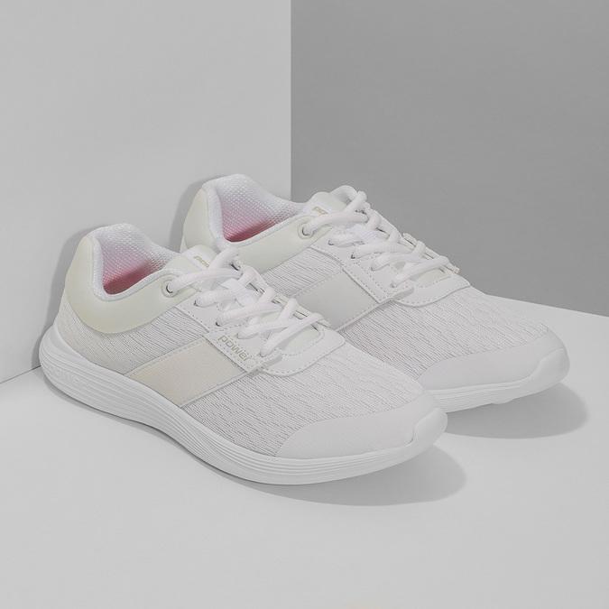 Bílé dámské tenisky sportovního střihu power, bílá, 509-1855 - 26