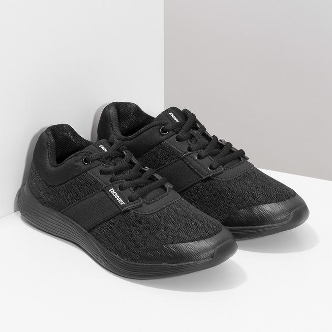 Černé tenisky s měkkou stélkou power, černá, 509-6855 - 26