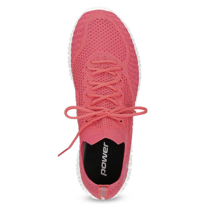 Dámské růžové úpletové tenisky power, růžová, 509-5211 - 17