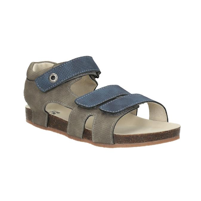Dětské sandály na suché zipy mini-b, modrá, 261-9609 - 13