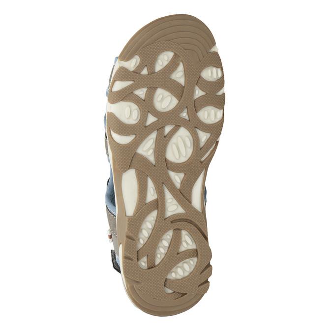 Chlapecké sandály na suchý zip šedo-modré mini-b, hnědá, 261-3608 - 19