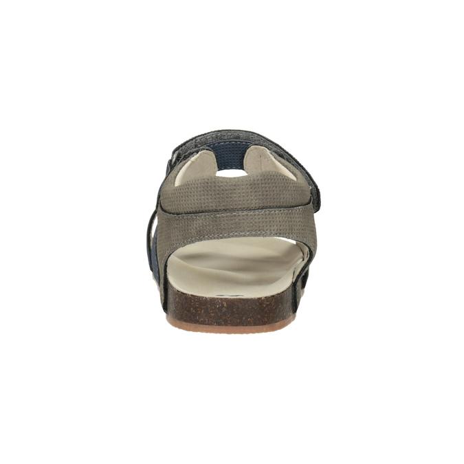 Dětské sandály na suché zipy mini-b, modrá, 261-9609 - 15