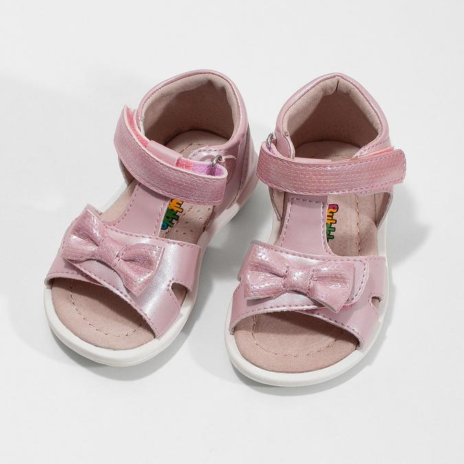 Dětské růžové sandály s mašličkou bubblegummers, růžová, 161-5608 - 16