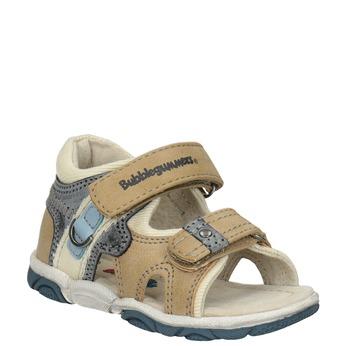 Dětské sandály na suché zipy bubblegummers, hnědá, 161-3606 - 13