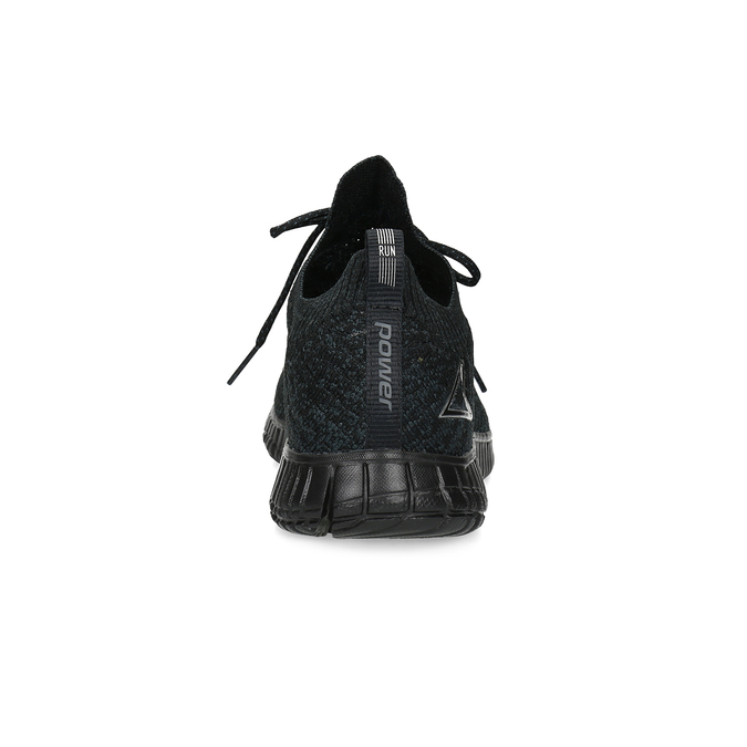 Dámské tenisky z černého úpletu power, černá, 509-6211 - 15