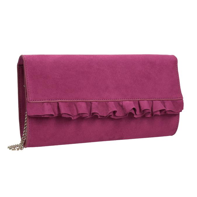 Růžové psaníčko s volánem bata, růžová, 969-5687 - 13
