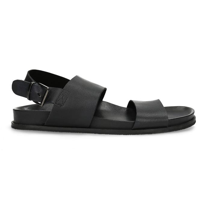 Černé pánské minimalistické kožené sandály bata, černá, 866-6638 - 19