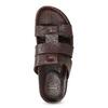 Hnědé pánské minimalistické kožené nazouváky bata, hnědá, 866-4639 - 17
