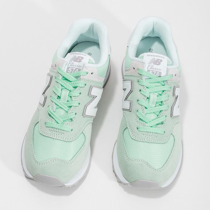 Zelené dámské tenisky new-balance, zelená, 503-7281 - 16