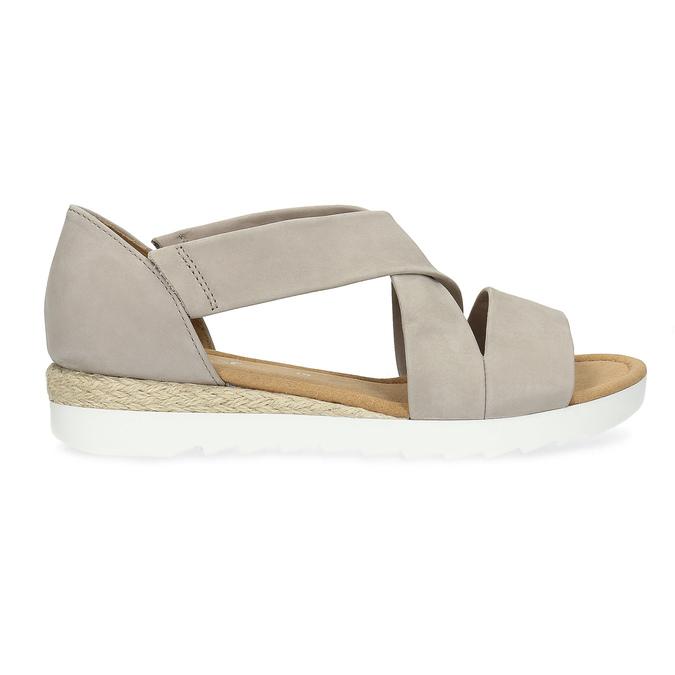 Kožené sandály šíře G gabor, béžová, 666-8347 - 19