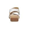 Kožené bílé sandály na suchý zip gabor, bílá, 666-1018 - 16