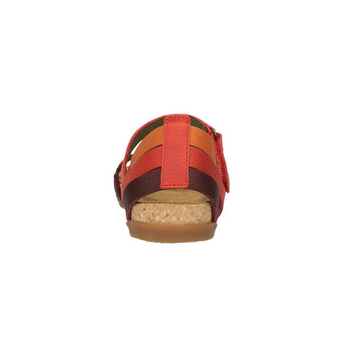 Dámské kožené sandály el-naturalista, červená, 564-5011 - 17