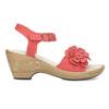 Sandály na stabilním podpatku s kytičkou comfit, červená, 661-5613 - 19