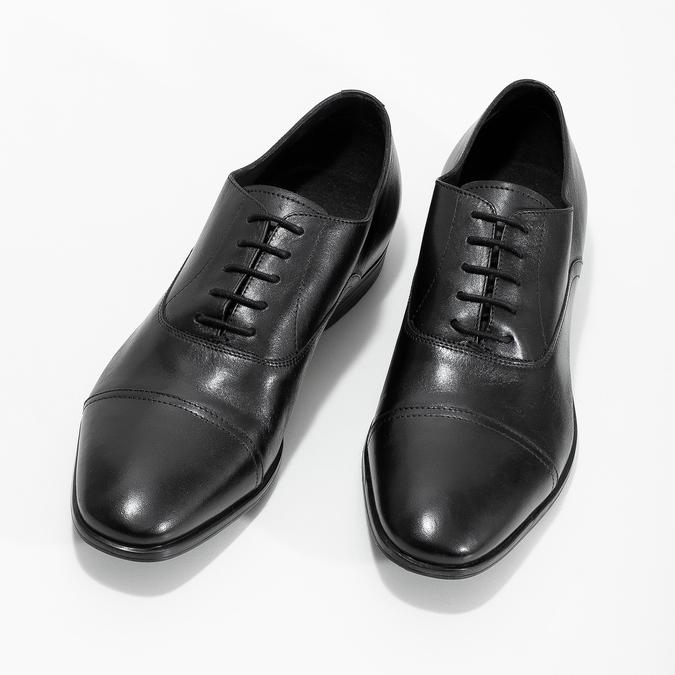 Černé kožené Oxford polobotky bata, černá, 824-6944 - 16